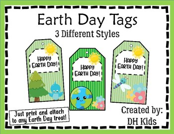 Earth Day Tags - Treat Bag Tags