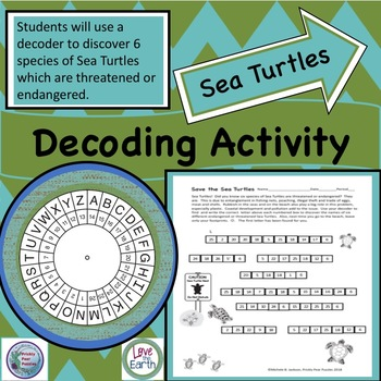 Decoder Puzzle, Sea Turtles, Critical Thinking, Threatened Species