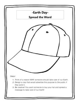 Earth Day- Design a Cap!