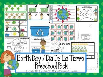 Earth Day / Día De La Tierra Preschool Pack