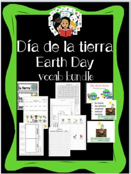 Earth Day / Día De La Tierra - Vocab Bundle and Literacy Centers - Spanish