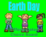 Earth Day Differentiated Choice Board
