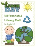 Earth Day Differentiated Literacy Centers and Activity Pack for K-2
