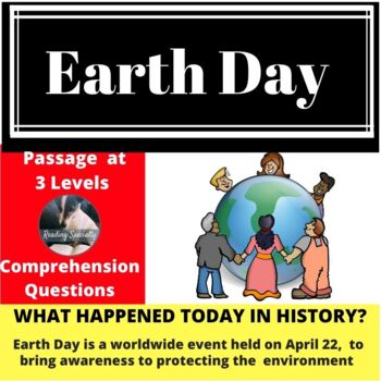 Earth Day Differentiated Reading Comprehension Passage April 22