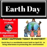 Earth Day Differentiated Reading Passage April 22