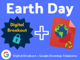 Earth Day Digital Activity Bundle (Digital Breakout, Google Drawings Templates)