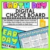Earth Day Digital Choice Board