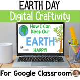 Earth Day Digital Craftivity for Google Classroom- Grades 3-6