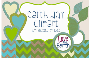 Earth Day Digital Paper and Clipart - Free for Personal or Commercial Use
