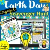 Earth Day Digital Scavenger Hunt: Google Slides & Google F
