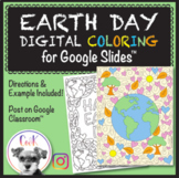 Earth Day Distance Learning Digital Coloring Pages!  Googl