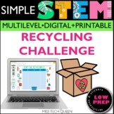 Earth Day Activities STEM Recycling Challenge