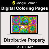 Earth Day: Distributive Property - Google Forms | Digital