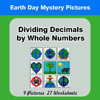 Earth Day: Dividing Decimals by Whole Numbers - Math Mystery Pictures