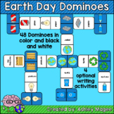 Earth Day Domino Game with Writing Sheet Options - Holiday
