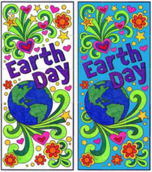 Earth Day Doodle Mural Template