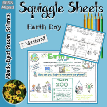 Earth Day Squiggle Sheets