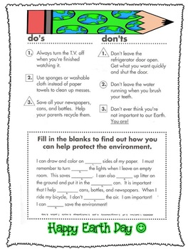 Earth Day (Do's and Don'ts)