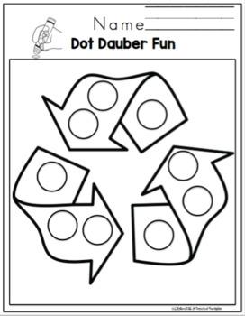 Earth Day Dot Dauber Fun