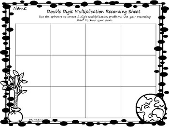 Earth Day Double Digit Multiplication Game