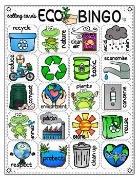Earth Day ECO-BINGO {Create Your Own Card}