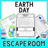 Earth Day ESCAPE ROOM - Fun Facts, April- Recycle- Environment- Print & go!