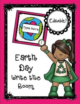 Earth Day Editable Write the Room