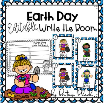 Earth Day~ Editable Write the Room