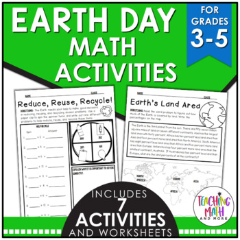 Earth Day Elementary Math Activities