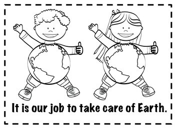 Earth Day Emergent Reader, Activities, Writing, & Anchor Chart Words