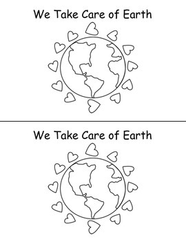 """Earth Day Emergent Reader """"We Take Care of Earth"""""""