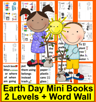 Earth Day Emergent Readers + Pocket Chart Cards - 2 Readin