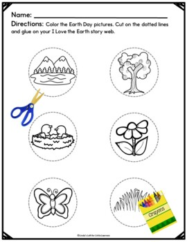 Earth Day Emergent Reader and Story Web: I Love the Earth