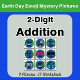 Earth Day Emoji: 2-digit Addition - Color-By-Number Math Mystery Pictures