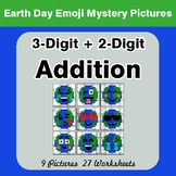 Earth Day Emoji: 3-digit + 2-digit Addition - Color-By-Number Mystery Pictures