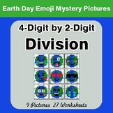 Earth Day Emoji: 4-digit by 2-digit Division - Color-By-Nu