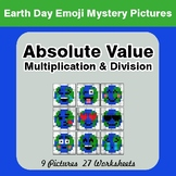 Earth Day Emoji: Absolute Value: Multiplication & Division