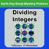 Earth Day Emoji: Dividing Integers - Color-By-Number Myste