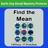 Earth Day Emoji: Find the Mean - Color-By-Number Mystery Pictures