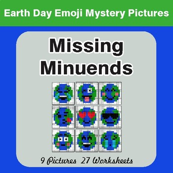 Earth Day Emoji: Missing Minuends - Color-By-Number Mystery Pictures