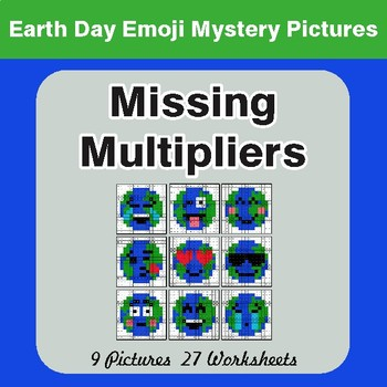 Earth Day Emoji: Missing Multipliers - Color-By-Number Mystery Pictures