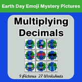 Earth Day Emoji: Multiplying Decimals - Color-By-Number My
