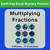 Earth Day Emoji: Multiplying Fractions - Color-By-Number Math Mystery Pictures