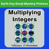 Earth Day Emoji: Multiplying Integers - Color-By-Number My