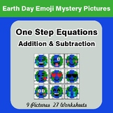 Earth Day Emoji: One Step Equation Addition & Subtraction