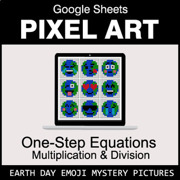 Earth Day Emoji: One-Step Equations - Multiplication & Division - Google Sheets