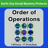 Earth Day Emoji: Order Of Operations - Color-By-Number Mys