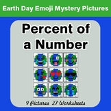 Earth Day Emoji: Percent of a number - Color-By-Number Mys
