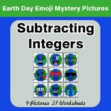Earth Day Emoji: Subtracting Integers - Color-By-Number My