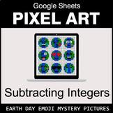 Earth Day Emoji - Subtracting Integers - Google Sheets Pixel Art